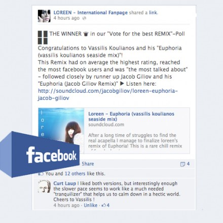 Winner @ LOREEN International FB Fan Page Voting